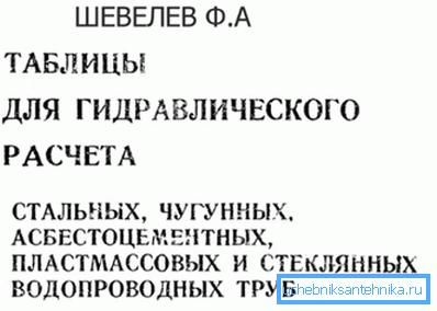 Таблицы Шевелева.