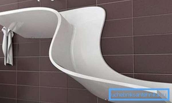Так выглядят дизайнерские акриловые раковины для ванной