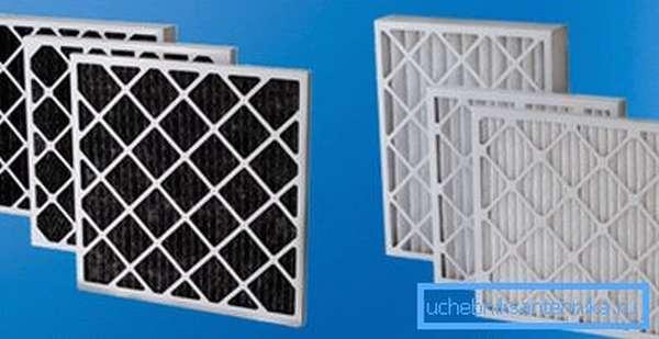 Так выглядят панельные фильтры для вентиляции.