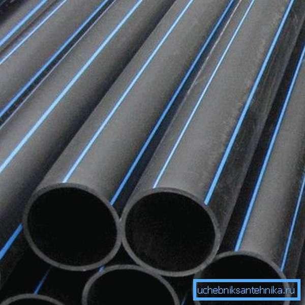Так выглядят полиэтиленовые трубы.