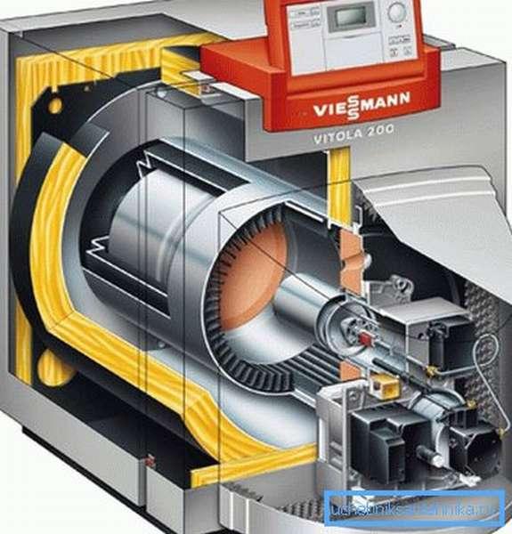 Такой котел может работать и на газе, и на дизельном топливе
