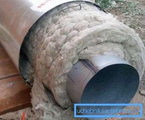 Теплоизоляция дымоходного канала производится с обратной целью – предотвращение распространения тепла.