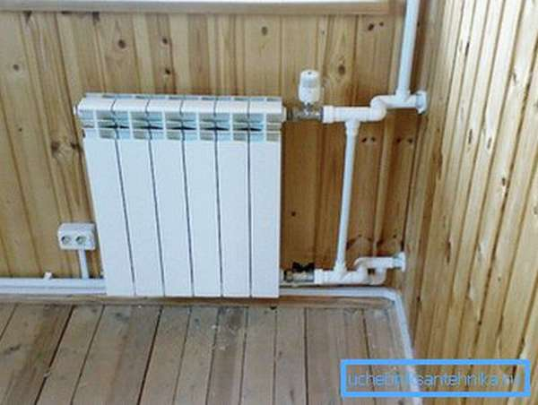 Теплоотдача одной секции биметаллического радиатора при двухтрубном прямом одностороннем подключении самая максимальная