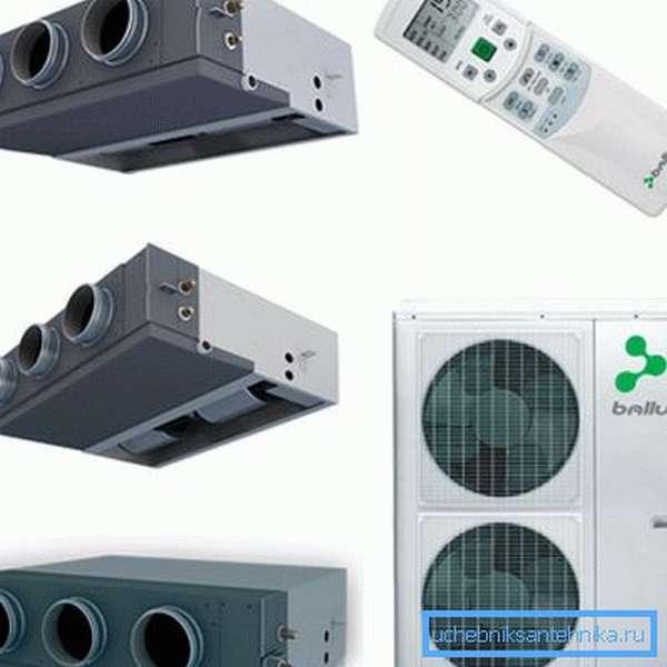 Тепловая мощность систем кондиционирования рассчитывается аналогично.