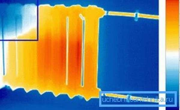 Тепловизионное обнаружение воздушной пробки в радиаторе
