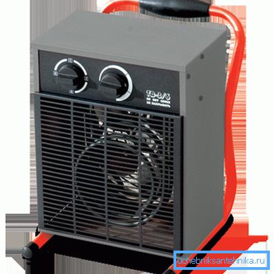Тепловой вентилятор – один из элементов воздушного отопления дома