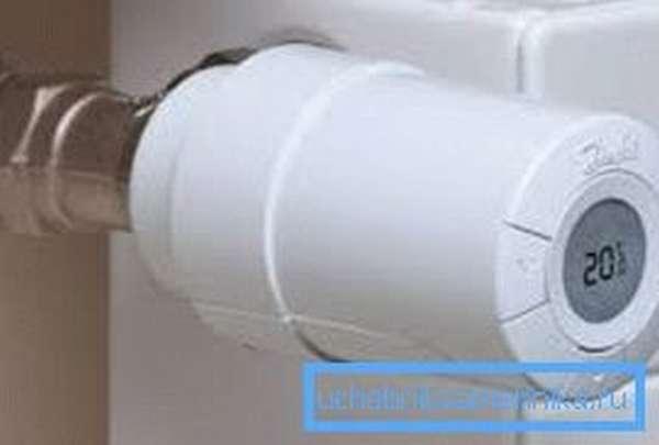 Термоэлектрический привод клапана радиатора отопления обладает дополнительными функциями