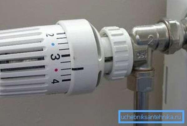 Термоклапан для радиатора отопления автоматически регулирует подачу теплоносителя