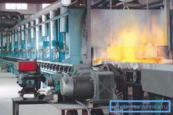 Термообработка - последний этап производства.