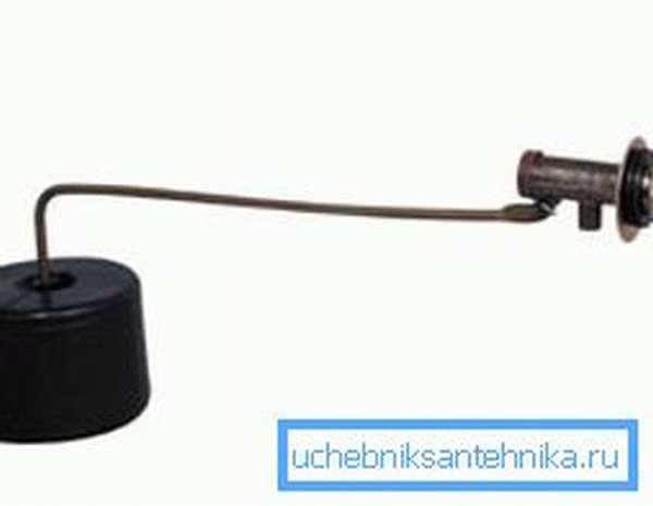 Требуется ремонт заливного клапана, если не останавливается вода в бачке унитаза