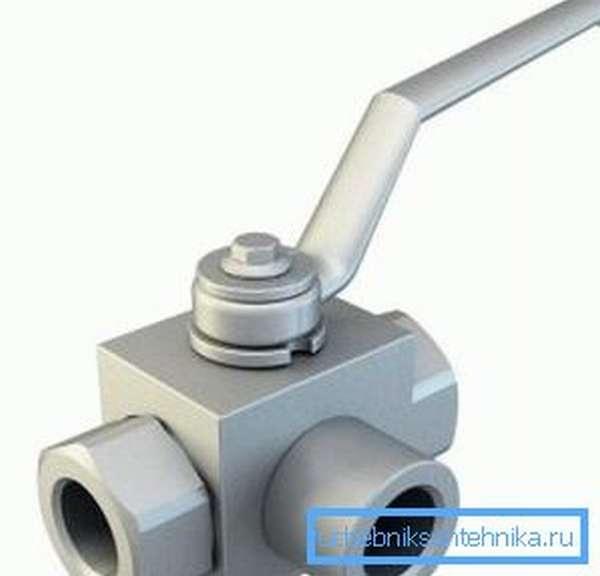 Трехпроходной кран 1 1 1 из нержавеющей стали