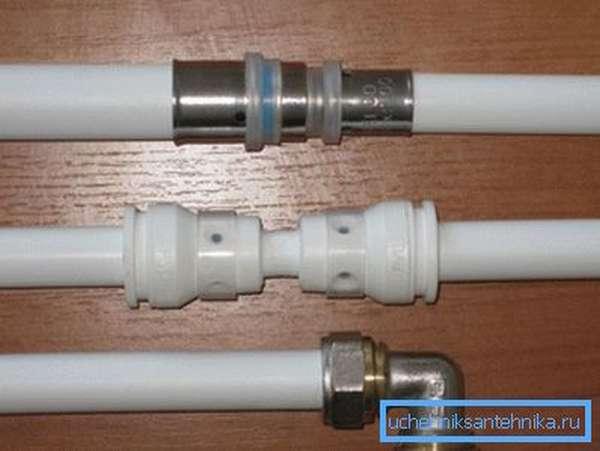 Три существующих способа соединения металлопластика.