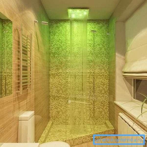 Тропический душ в ванной комнате