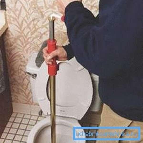 Трос нужно вращать аккуратно во избежание повреждения канализации