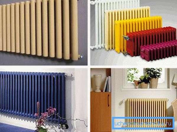 Трубчатые стальные радиаторы отопления бывают разного вида