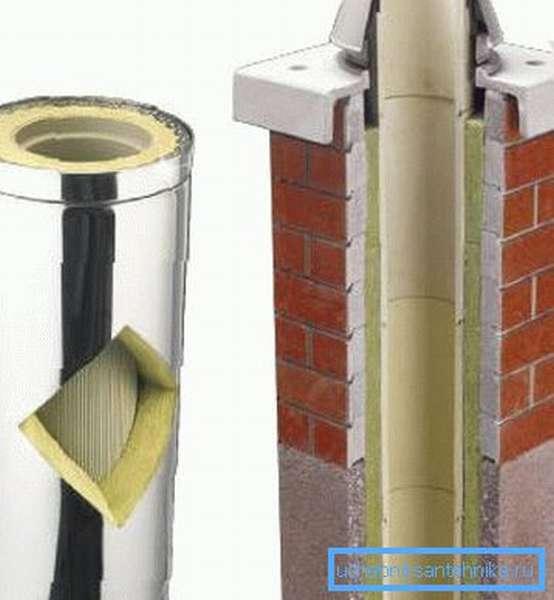 Трубу можно просто обложить специальным кирпичом
