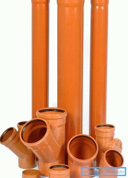 Трубы и фасонина для наружной прокладки.