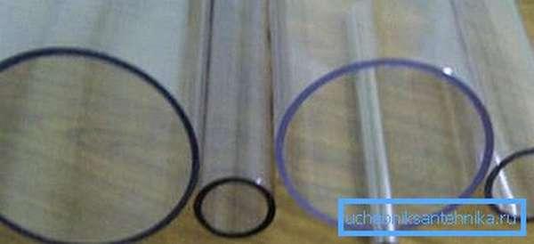 Трубы из оргстекла