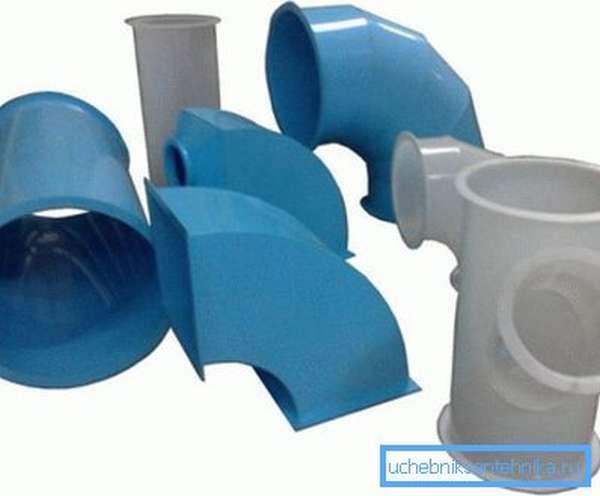 Трубы ПВХ для вентиляции разных форм и размеров