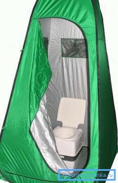 Туристическая палатка для туалета или душа