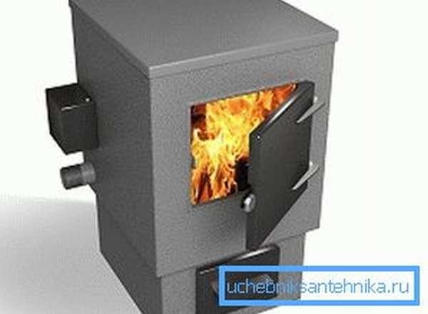 Твердое топливо в этом котле является основным, а электрический нагреватель включается в ночное время для поддержания комфортной температуры