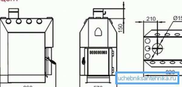 Удобные размеры для среднего помещения