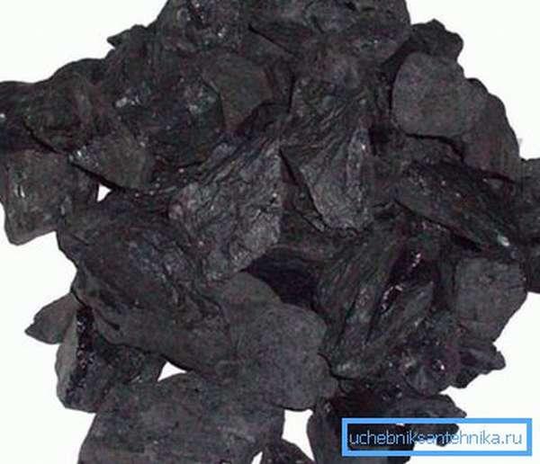 Уголь обладает достаточно высокой теплотворной способностью.