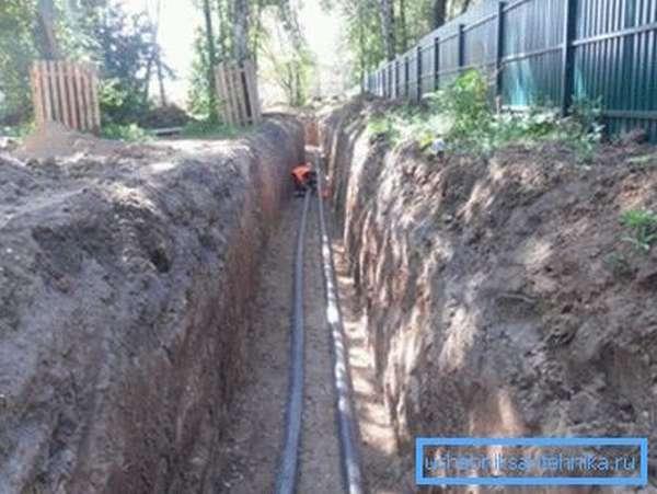 Укладка водопровода