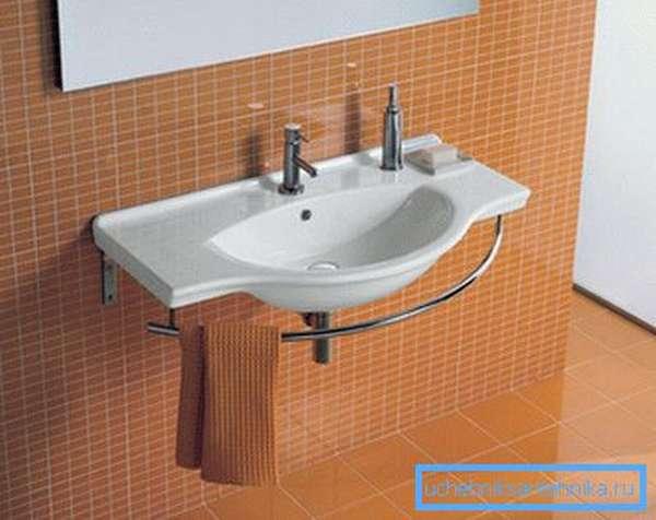 Умывальник в ванной комнате должен быть удобно расположен