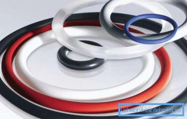 Уплотнительные кольца для канализационных труб разных диаметров