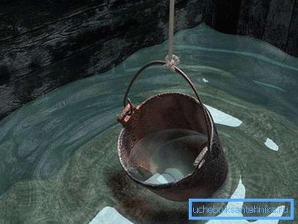 Уровень воды в кололодце ниже уровня промерзания грунта