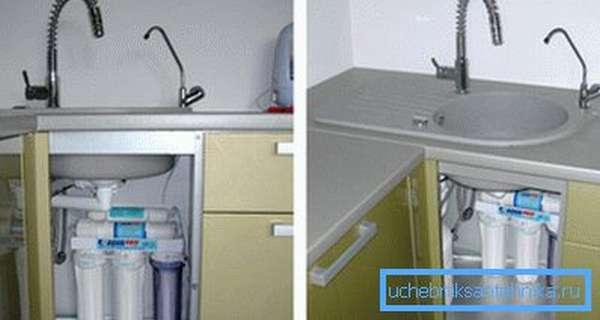 Устанавливаем фильтр для питьевой воды под мойку