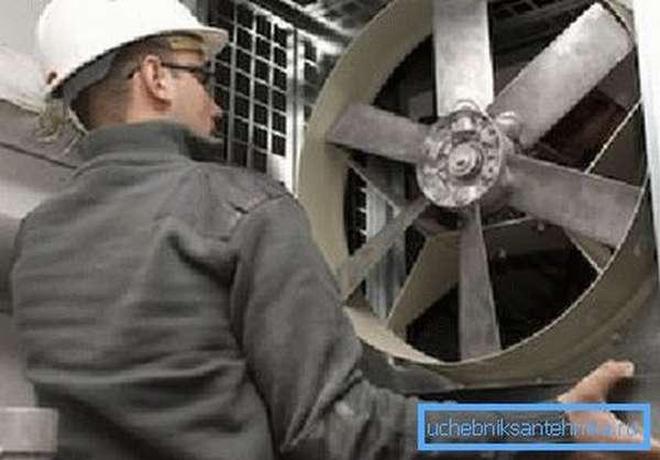 Установка нового вентилятора для блока принудительной подачи воздуха