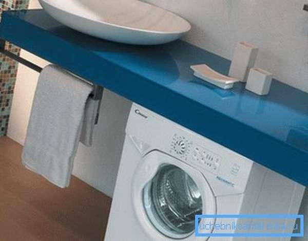 Установка стиралки своими руками под накладной мойкой