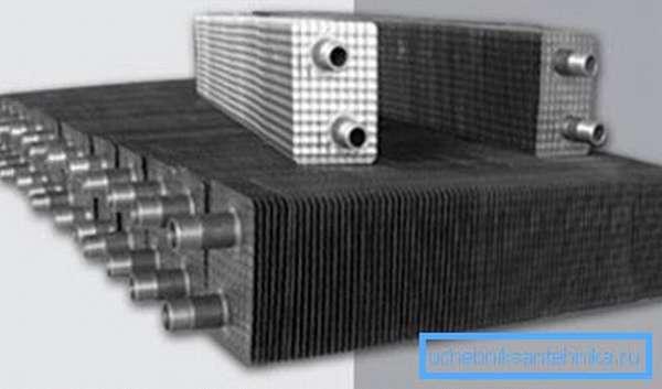Установка теплообменников на трубы позволяет существенно повысить эффективность обогрева