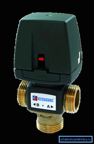 Устройства с электроприводом – современные варианты для регулировки температуры потока