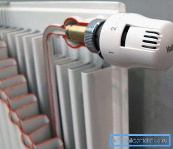 Устройство для регулировки нагрева радиатора