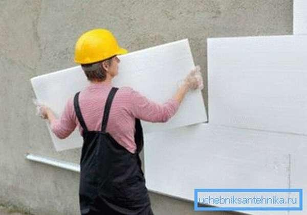 Утепление стен позволяет сократить энергозатраты на отопление