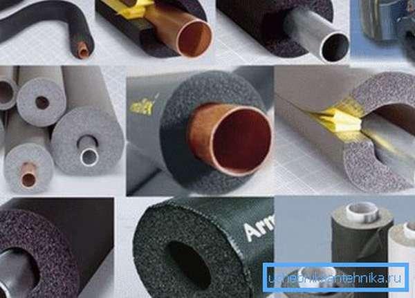 Утепление водопроводных труб в земле производится разными материалами