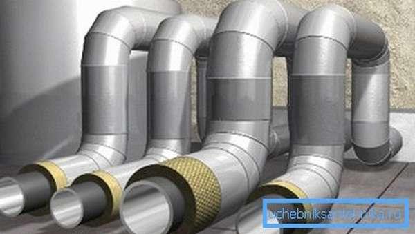 Утепленные трубы для вентиляции с защитными кожухами