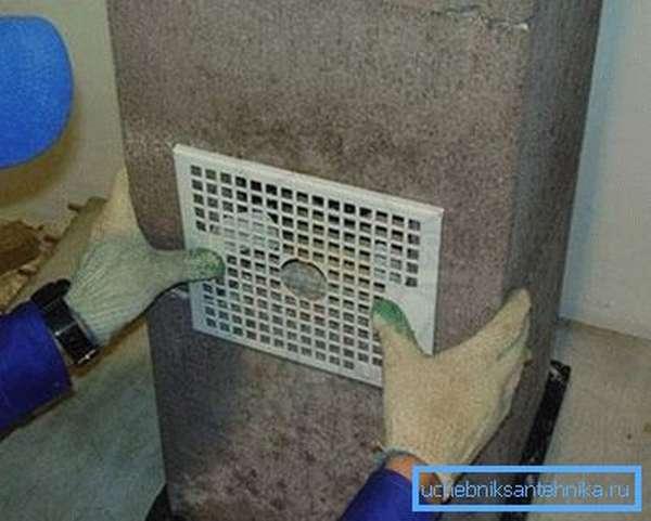 В процессе установите вентиляционного барьера важно одно – герметичность прижимания