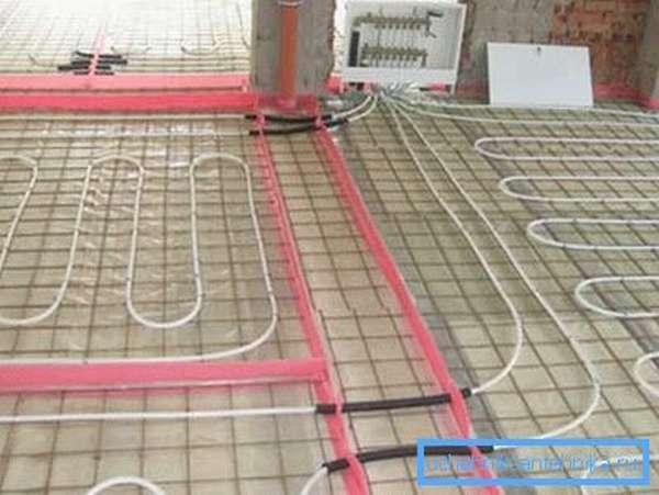 В системе «теплый пол» обязательно используется коллектор для систем отопления пола.