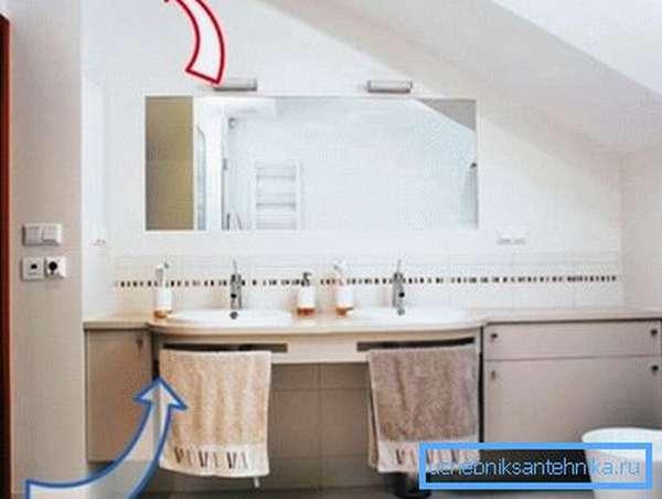В ванном помещении должна быть хорошая циркуляция воздуха.