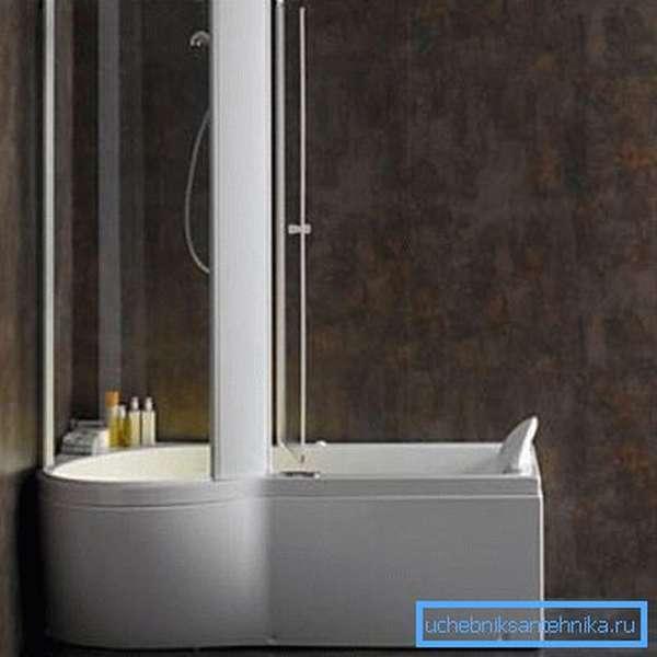 Ванная совмещенная с душем системы Albatros