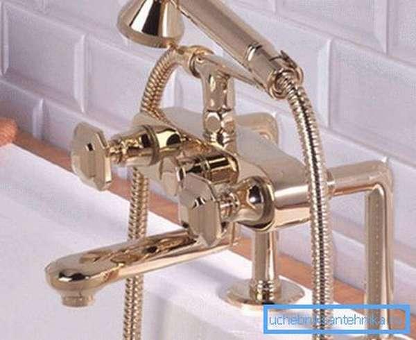 Вариант системы, предполагающей установку на ванную