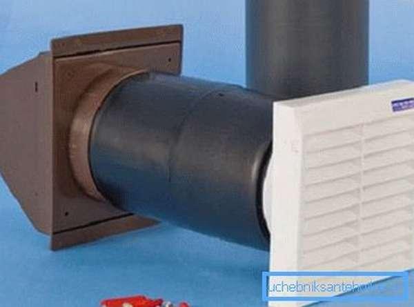 Вариант собранной системы, которую можно монтировать в стенах или выводить наружу