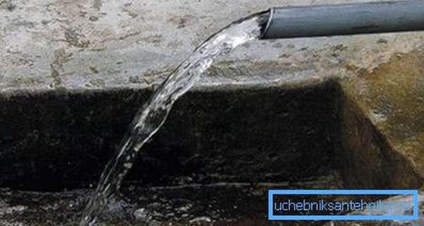 Важно организовать слив воды
