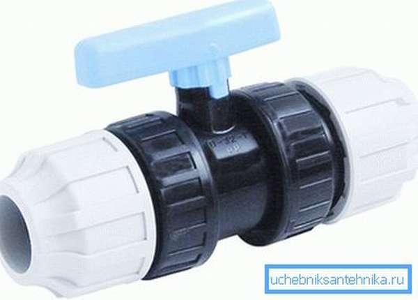 Вентиль для ПНД трубопровода