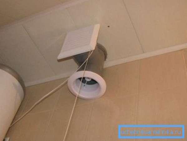 Вентилирование санузла вытяжным вентилятором