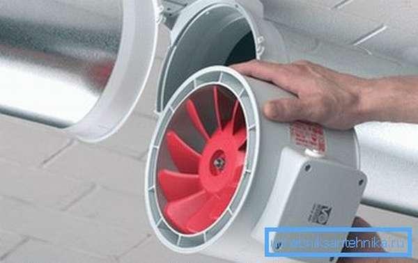 Вентилятор, встраиваемый в воздуховод